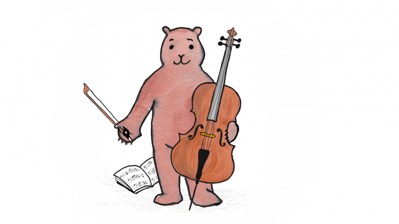 Bärchen mit Cello
